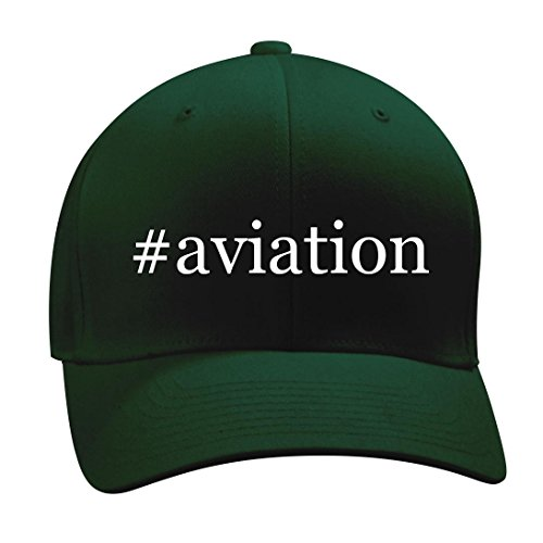 #aviation - A Nice Hashtag Men's Adult Baseball Hat Cap, Forest, Small/Medium