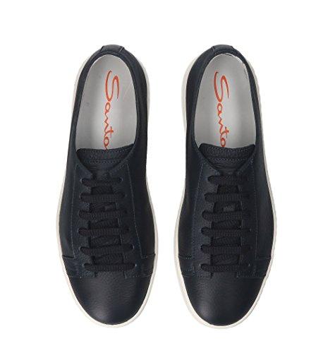 SANTONI Sneakers Uomo Mbcn14387ba6cmiau55 Pelle Blu