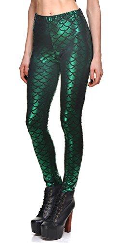 OFEEFAN Womens Digital Mermaid Leggings product image