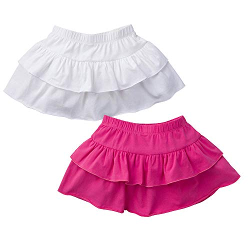 Gerber Graduates Girls' Toddler 2 Pack Skorts, Pink and White, -
