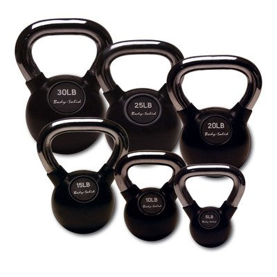 Body Solid 105-Pound Kettle Bell Set with Rack by Body-Solid