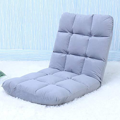 床怠惰なソファ床椅子Backゲーミングチェアとして使用するための背部サポート付き怠惰なソファチェア、5色(カラー:E) B07SY6W1BV E
