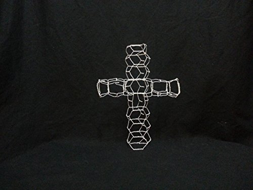 Cross Topiary Frame - Tiny Cross Topiary Frame - Crucifix Topiary Frame - Wire Cross - Wire (Wire Crucifix)