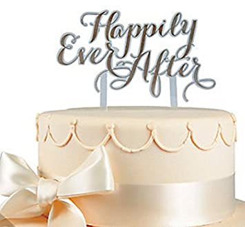 Happily ever after cake topper gold wedding cake topper amazon happily ever after cake topper gold wedding cake topper junglespirit Choice Image