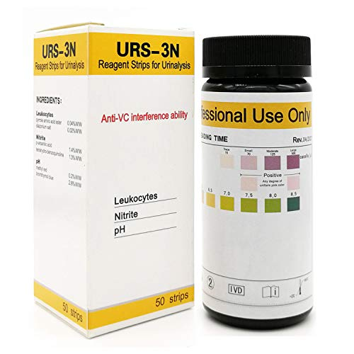 VigorFull Urinary Tract Infection Test Strips (50 ct) UTI Test Strip for Women FDA Approved Leukocytes Nitrite and pH Strips Routine Urine Testing