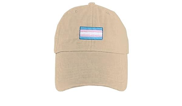 e6945f35ff470 Amazon.com   Tan Baseball Cap Transgender Flag - LGBT Trans