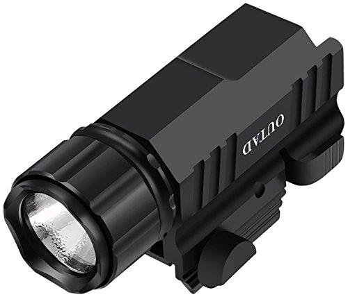 (Outdoor Waterproof LED Tactical Flashlight 500 Lumens, Picatinny Rail Mount Tac Torch Light For Guns Like AR15 Rifle, Pistol, Handgun, Shotgun, Glock - Cree Xml T6 LEDs, 2-Mode Strobe, Zoomable)