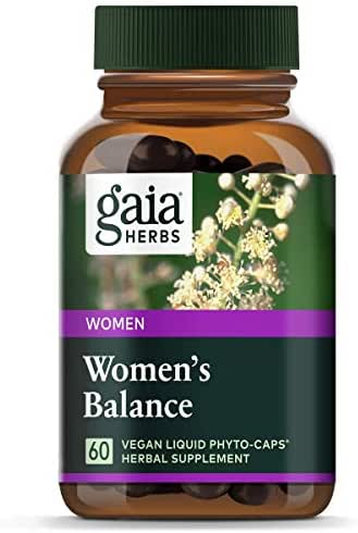 Gaia Herbs Women's Balance, Vegan Liquid Capsules, 60 Count - Hormone Balance for Women, Mood and Liver Support, Black Cohosh, St John's Wort, Organic Red Clover, Alfalfa & Dandelion Root