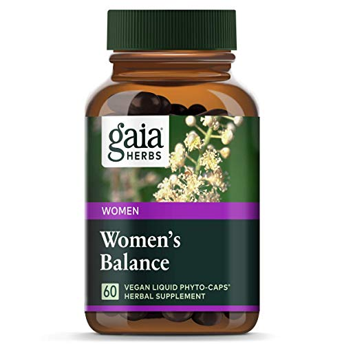 Gaia Herbs Women's Balance, Vegan Liquid Capsules, 60 Count - Hormone Balance for Women, Mood and Liver Support, Black Cohosh, St John's Wort, Organic Red Clover, Alfalfa & Dandelion Root (Best Time Of Day To Take Estroven Weight Management)