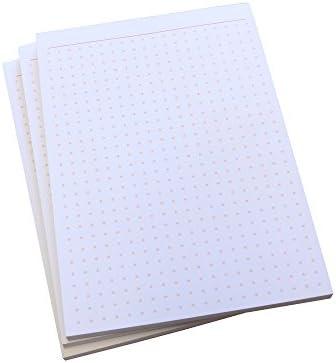 Notizblock - gepunktet in ORANGE - 50 Blatt - Staffelpreise verfügbar - DIN A6 Format (22389)