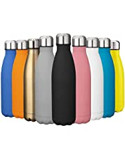 EVIICC Insulated Stainless Steel Vacuum Water Bottle Sports Drinks Bottle Double Walled for Outdoor Hiking Running Biking BPA Free - 500ml
