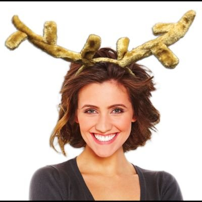 Plush Reindeer Ears Antlers Headband (Comet Halloween Costume)