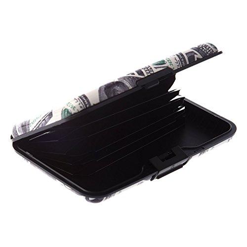 SODIAL (R) Farbe, Metall, Aluminium Identifikation-Kreditkarte-Kasten-Mappen-Geldbeutel-Taschen-Halter-Kasten - Dollar Korn