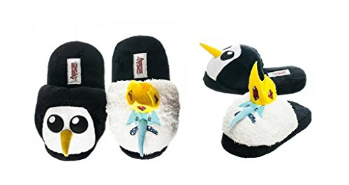 Adventure Time Ice King & Gunter Plush Slipper - Size (Ice King And Gunter Costume)