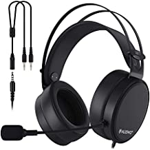 PS4 Headset,NUBWO Xbox One PC Gaming Headset with Microphone, Stereo Gamer Headphones for PC/Playstation 4/Xbox One/Laptop/Tablet/Cell Phone/Mac-Black