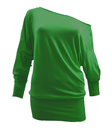 Di Batwing Lunghe A Tracolla Donna Jersey Baggy Bottle felpa Da In Maniche Green Maglia Yz8dpnSqwx