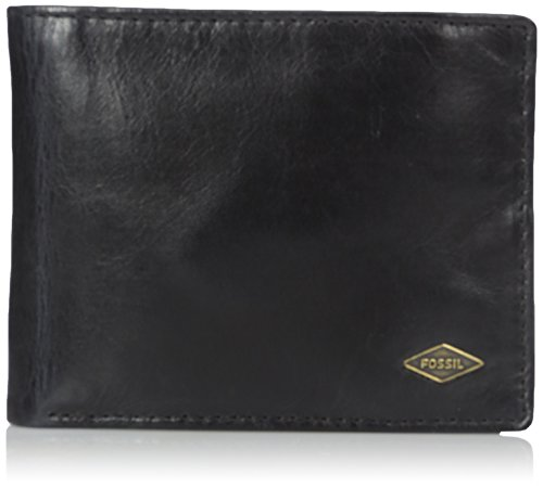 Fossil Men's International Combination Wallet, Ryan-Black, O