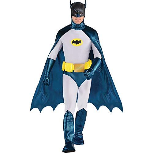 SUIT YOURSELF Classic Batman Costume for Men, Standard Size, Includes Jumpsuit, Mask, Cape, Gloves, Belt, and More