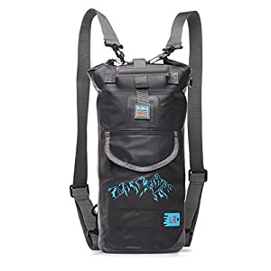 Luckroute Waterproof Dry Backpack with Straps and Pockets - Floating Dry Bag for Kayaking - Sack for Beach Boating or Fishing, Black 10L
