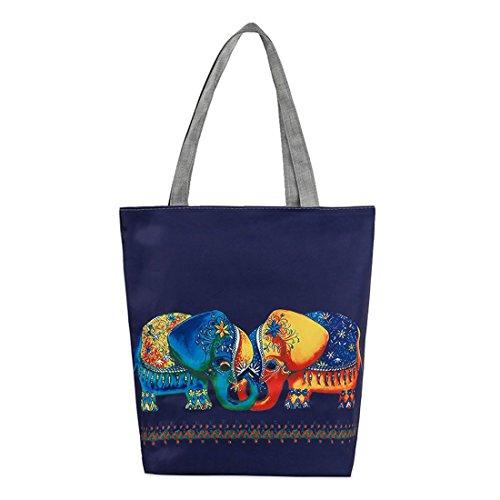 Bolsa De Cremallera ECYC® Elephant Travel Women Shopping Bolso Hombro B