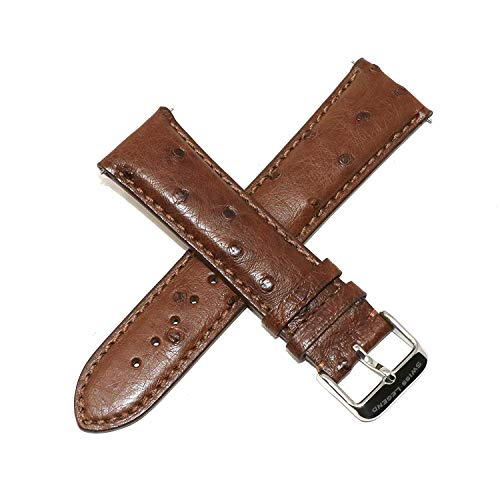 Swiss Legend 23MM Brown Ostrich Leather Watch Strap with Silver Stainless SL Buckle fits 42mm Bellezza Watch