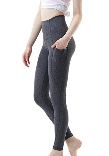TM-FYP54-HCC_Small Tesla Yoga Pants High-Waist Leggings w Side Pockets FYP54 - Side Gusset