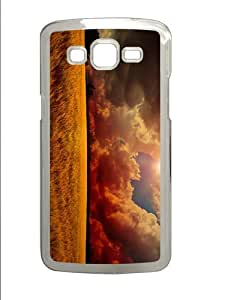 covers grove sunset sky clouds PC Transparent case/cover for Samsung Galaxy Grand 2/7106