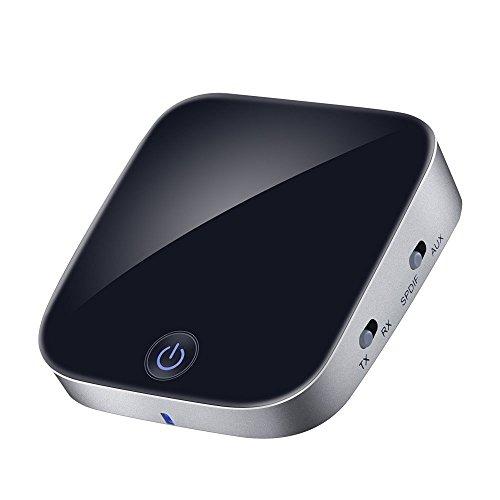 Pulison(TM)2 in 1 Bluetooth Transmitter and Receiver Aptx Digital Optical Toslink Output 3.5mm AUX (Black) -