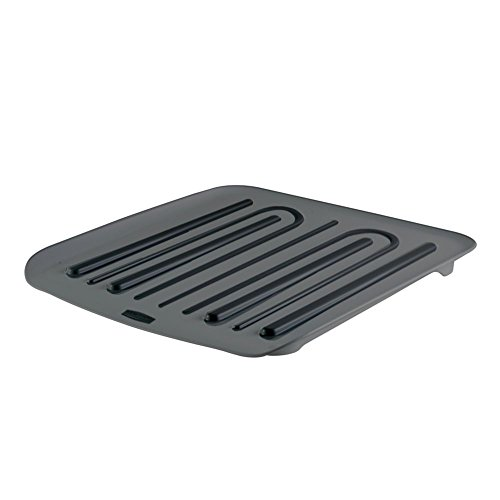 Rubbermaid Dish Drainer Tray, Plastic, Black, 1938748 (Small Antimicrobial Rubbermaid Dish)