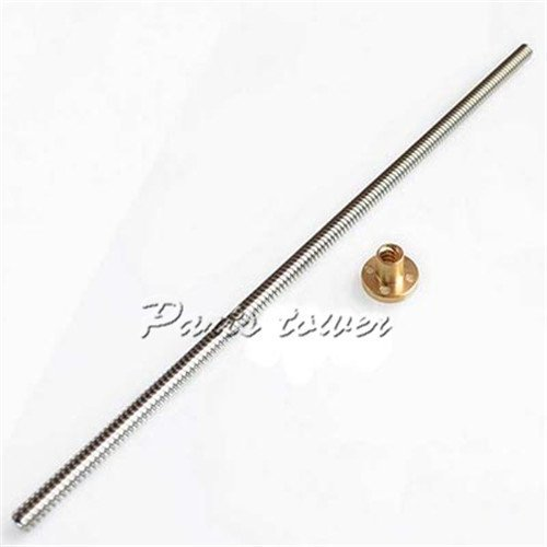 Parts-tower-2PCS-3D-printer-accessory-stainless-steel-T8-2-D8-300mm-Trapezoidal-screw-Makerbot-lead-screwthreaded-rod-threaded-top-quality