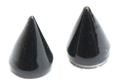 Punk Goth Black Magnetic Spikes Spike CLIP ON Earrings Studs - Earrings Magnetic Spike