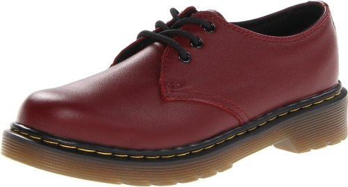 Dr. Martens Everley Oxford (Little Kid),Cherry Red Softy,1 UK (2 M US Little Kid)