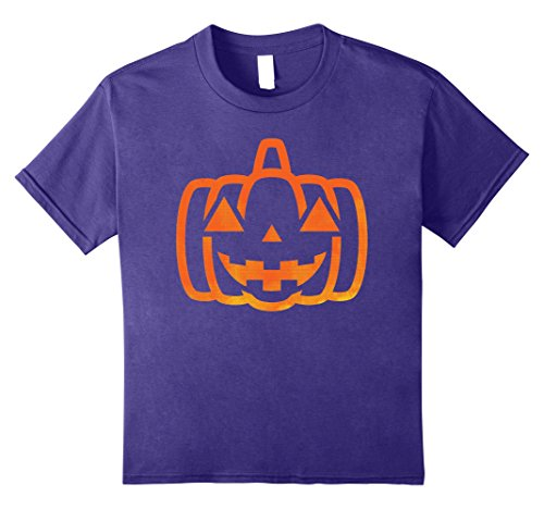 Kids Happy JACK O' LANTERN PUMPKIN Shirt Halloween Costume Tee 8 Purple - Kid Friendly Halloween Costumes Ideas