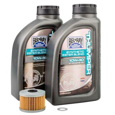 Tusk 4-Stroke Oil Change Kit Bel-Ray Thumper Full Synthetic 10W-40 - Fits: Honda CRF250L 2013-2016