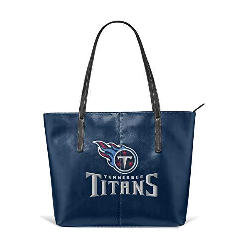 - MamaTina Custom Women's PU Leather Handbag Tennessee Titans Large Capacity Shoulder Bag Classical Travel Purse Tote Bags