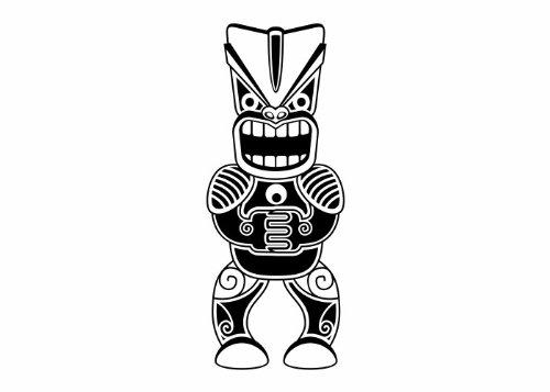 Wandtattooladen Wandtattooladen Wandtattooladen Wandtattoo - Maori - Krieger 2 Größe 56x140cm Farbe  schwarz B01M2X0CRE Wandtattoos & Wandbilder 628f17
