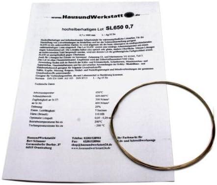 Hochsilberhaltiges Hartlot Sl650 0 7mm X 1 000mm 55 650 C Silberlot Baumarkt