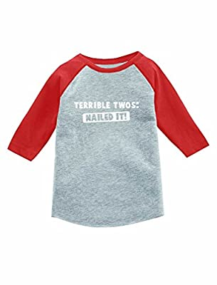 Terrible Twos Nailed It! 3/4 Sleeve Baseball Jersey