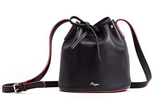 Unique Design Genuine Full Grain Leather Handbag Bucket Bag Drawstring Shoulder Bag Designer Handbag Cow Leather Romyse