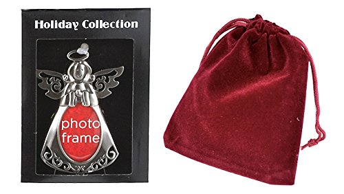 Picture Frame Pet Stocking (Pewter Christmas Picture Frame Ornament, Praying Angel)