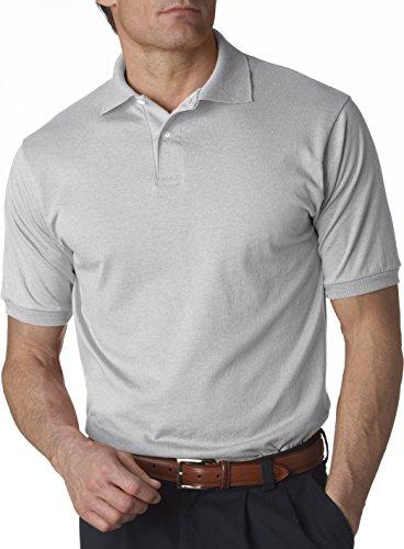 Jerzees Herren Poloshirt Grau silber XXXX-Large