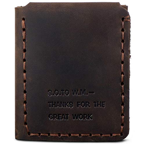VIILOCK The Secret Life of Walter Mitty Wallet Pull-up Leather Handmade Wallet