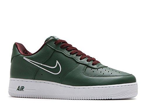 Nike Mens Air Force 1 Basso Retro Hong Kong Foresta Profonda / Bianco Foresta Profonda / Bianco
