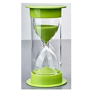 Toirxarn Reloj de arena, doble protección, asistente de gestión del tiempo, regalo creativo, decoración de la oficina de la sala de estar - 60 minutos Verde 13