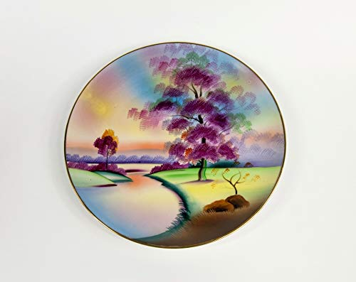 Vintage dinner plate hand painted made in Japan Meito china bone porcelain