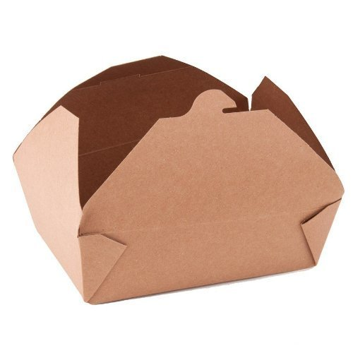 Southern Champion Tray ChampPak Retro Take-Out Container, Kraft Paperboard with Poly Coated Inside (Multiple Sizes