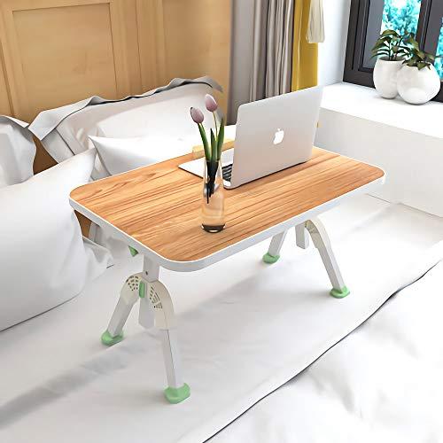 Mesa elevadora plegable para computadora portatil,Acogedor Home Bed Desk Mesa de comedor giratoria de 360 ° Soporte para computadora portatil para desayunar, leer,Viendo peliculas en la cama,Verde