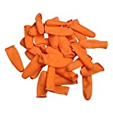 B Blesiya 100pcs/pack Latex Rubber Finger Cap Cots Fingercots Protector Powder Free s
