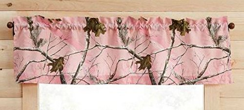 Pink RealTree AP Camo Window Valance Girls Outdoor Tree Camouflage Decor 60x14