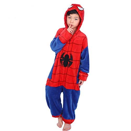 Unisex Children's Pajamas Halloween Children Spider-Man Cosplay Homewear Pajamas (Spiderman, 120CM-4-5T)